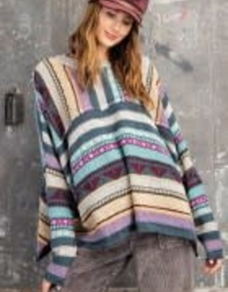 Multicolor Boho Knitted Sweater