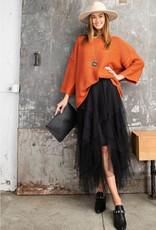 Make A Statement- Allover Mesh Ballerina Maxi Skirt