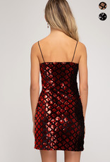 Holiday Sequins Tube Top Mini Dress