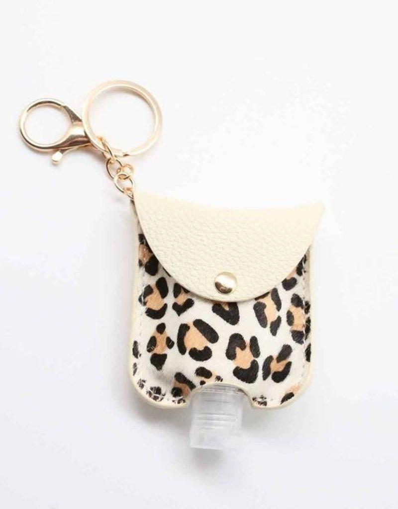 Animal Print Hand Sanitizer Keychain