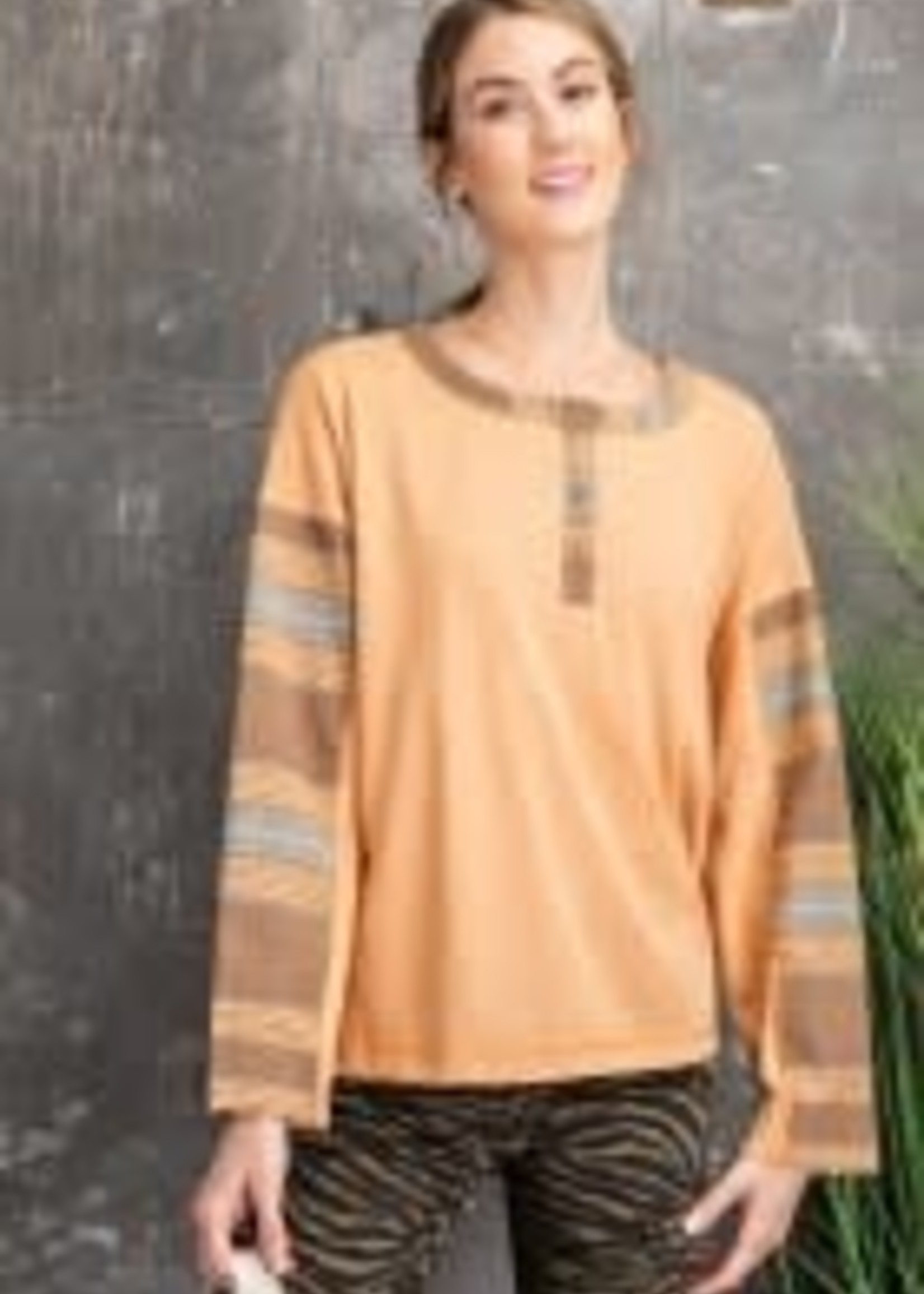 Duo Henley Mix and Match Longsleeve Top
