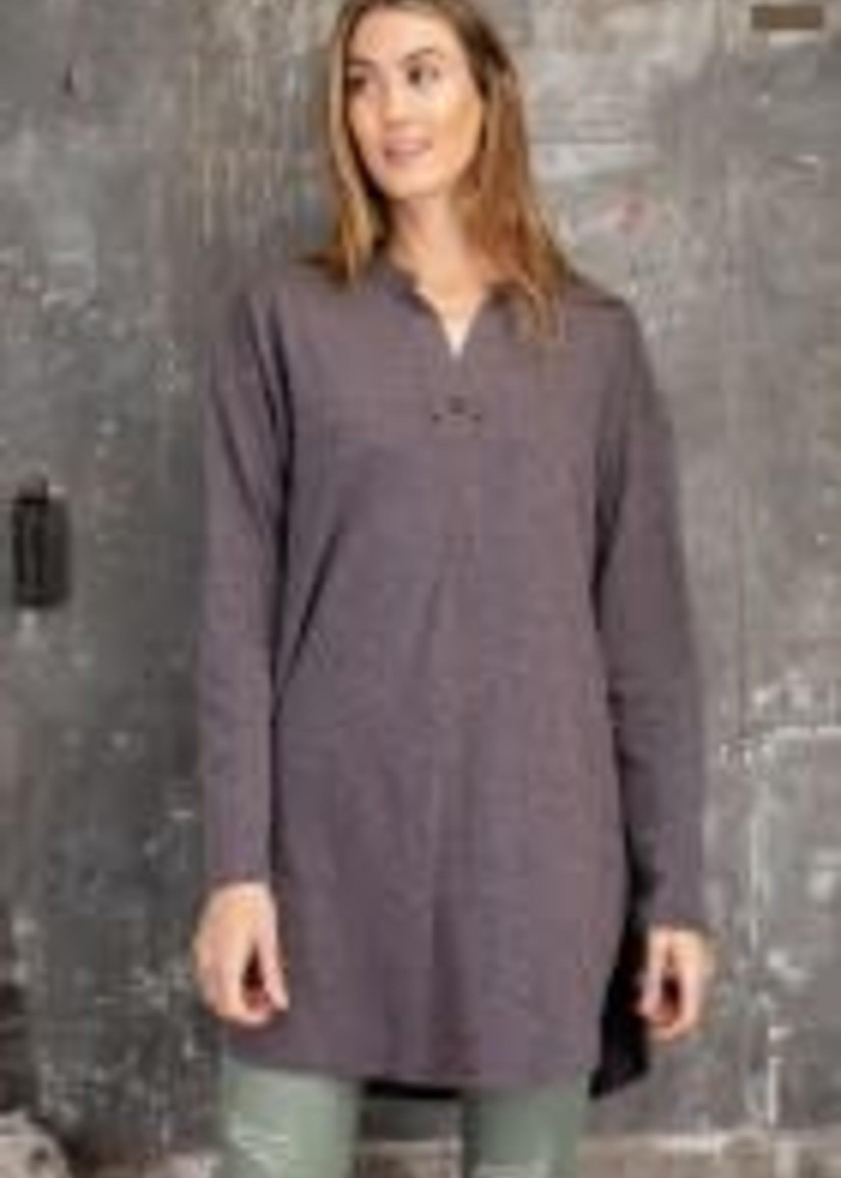 Melangie Knit Loose Fit Tunic w/ V-Neck