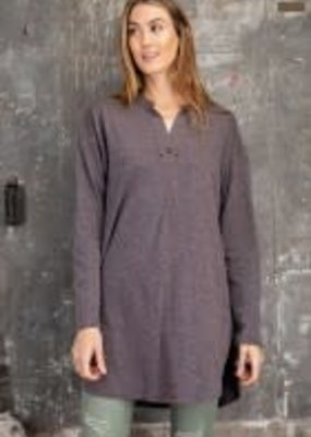 Melangie Knit Loose Fit Tunic w/ V-Neck