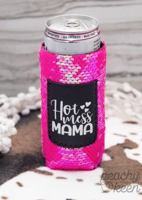 Hot Mess Mama Tall Koozie