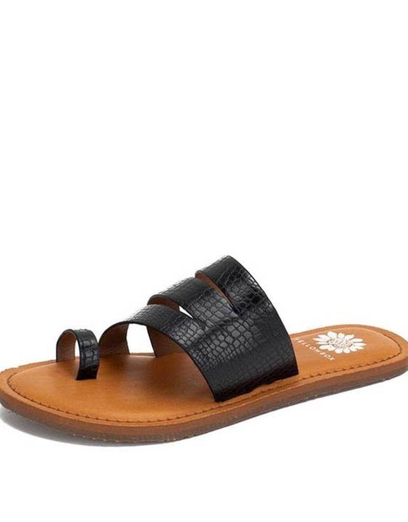 Dianna Faux Leather Flip Toe Sandals