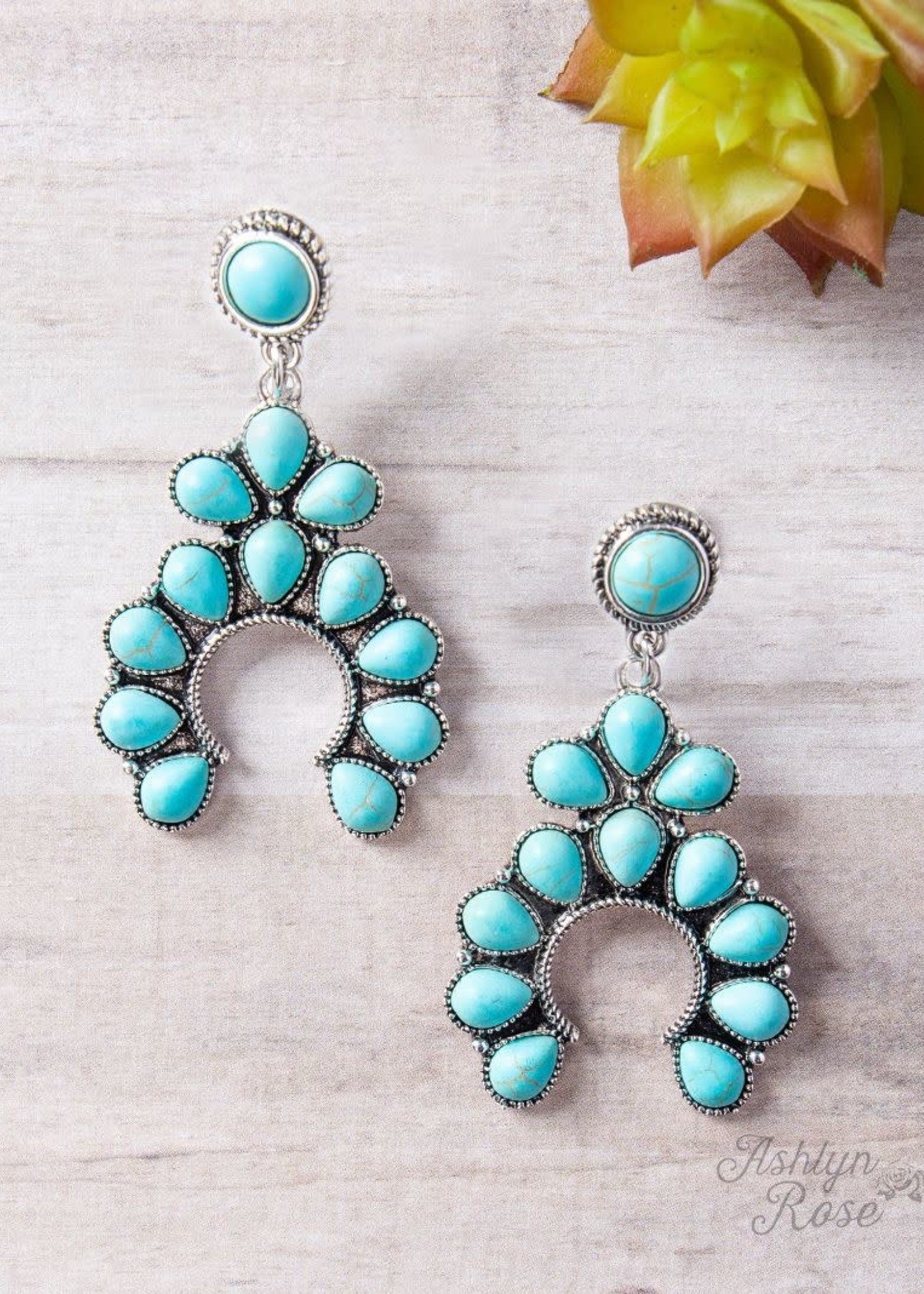 Giddy Up Squash Blossom Earrings