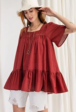 Just the Two of Us Ruffled Tunic Top