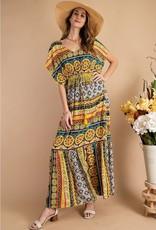All Day Long Tribal Maxi Dress