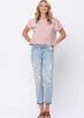 Distressed Boyfriend Mid-Rise Jeans