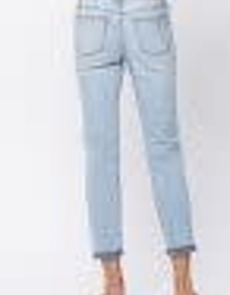 Distressed Boyfriend Mid-Rise Jeans