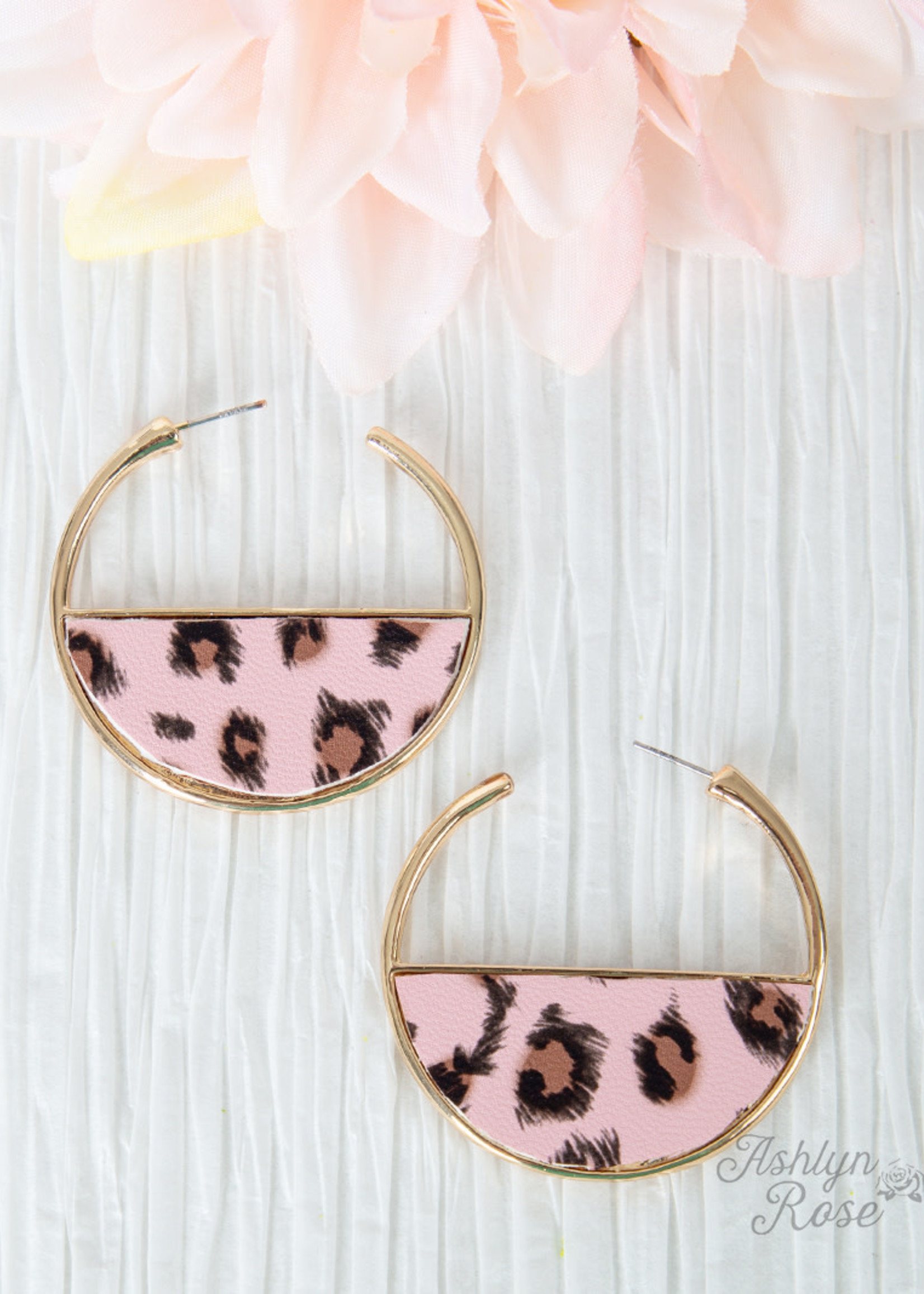 Wild Secrets Leopard Hoop Earrings