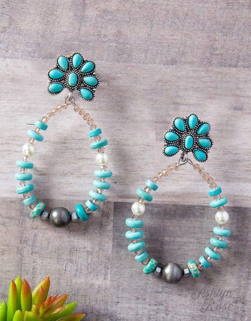 Southern Teardrop w/ Flower Earrings