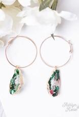 Geode Hoop Earrings; Special Collection