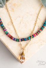 Drop of Summer Beaded Necklace w/ Teardrop