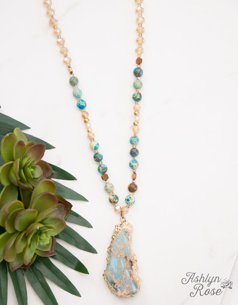 Stone and Beads Lagoon Beauty