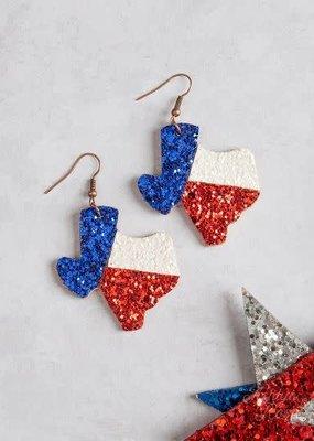 Texas Pride Sparkling Earrings