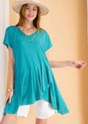 Short Sleeve Cotton Slub Tunic