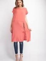 Short Sleeve Eyelet Detailed Tunic Dress