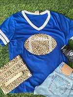 Leopard Print Football Tee