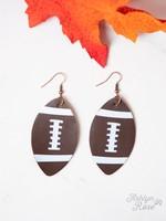 Game Day Darling Football Earrings