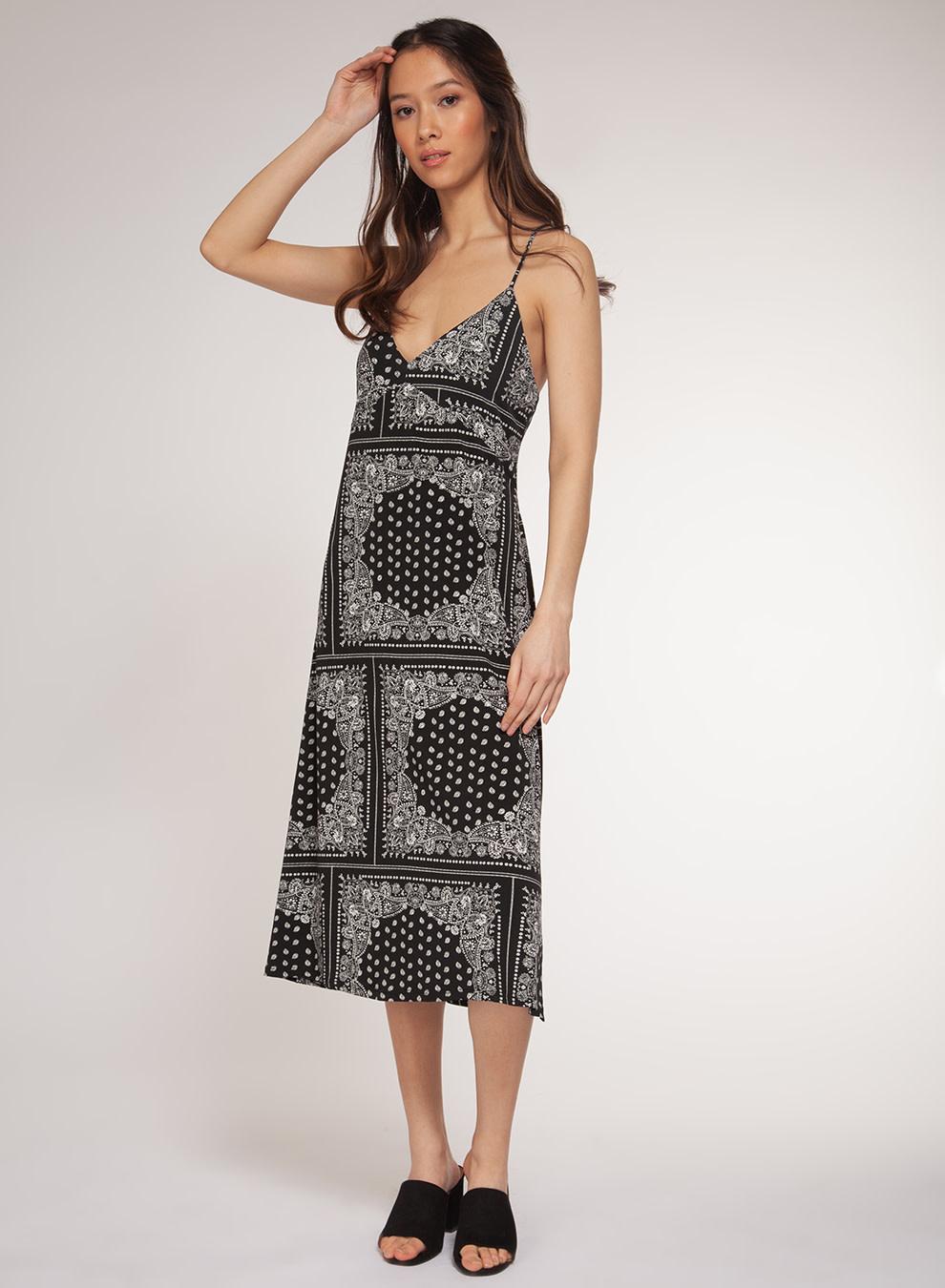 DEX SPAGHETTI STRAP KNEE LENGHT DRESS