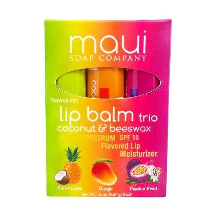 HAWAIIAN PACIFIC NATURALS LLC MAUI LIP BALM 3 PACK