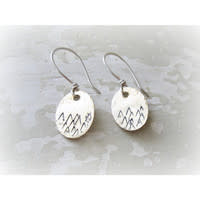 CONTEMPO CONTEMPO STAMPED MTN EARRINGS