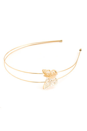 FAME DOUBLE STRAND BUTTERFLY HEADBAND