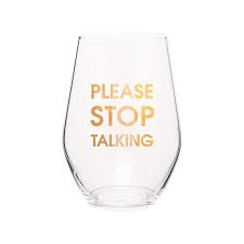 CHEZ GAGNE STEMLESS WINE GLASS CHEEKY