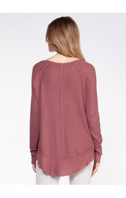 DEX L/S SCOOP NECK RIBBED CUFF AND HEM