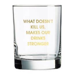CHEZ GAGNE WHISKEY GLASS CHEEKY