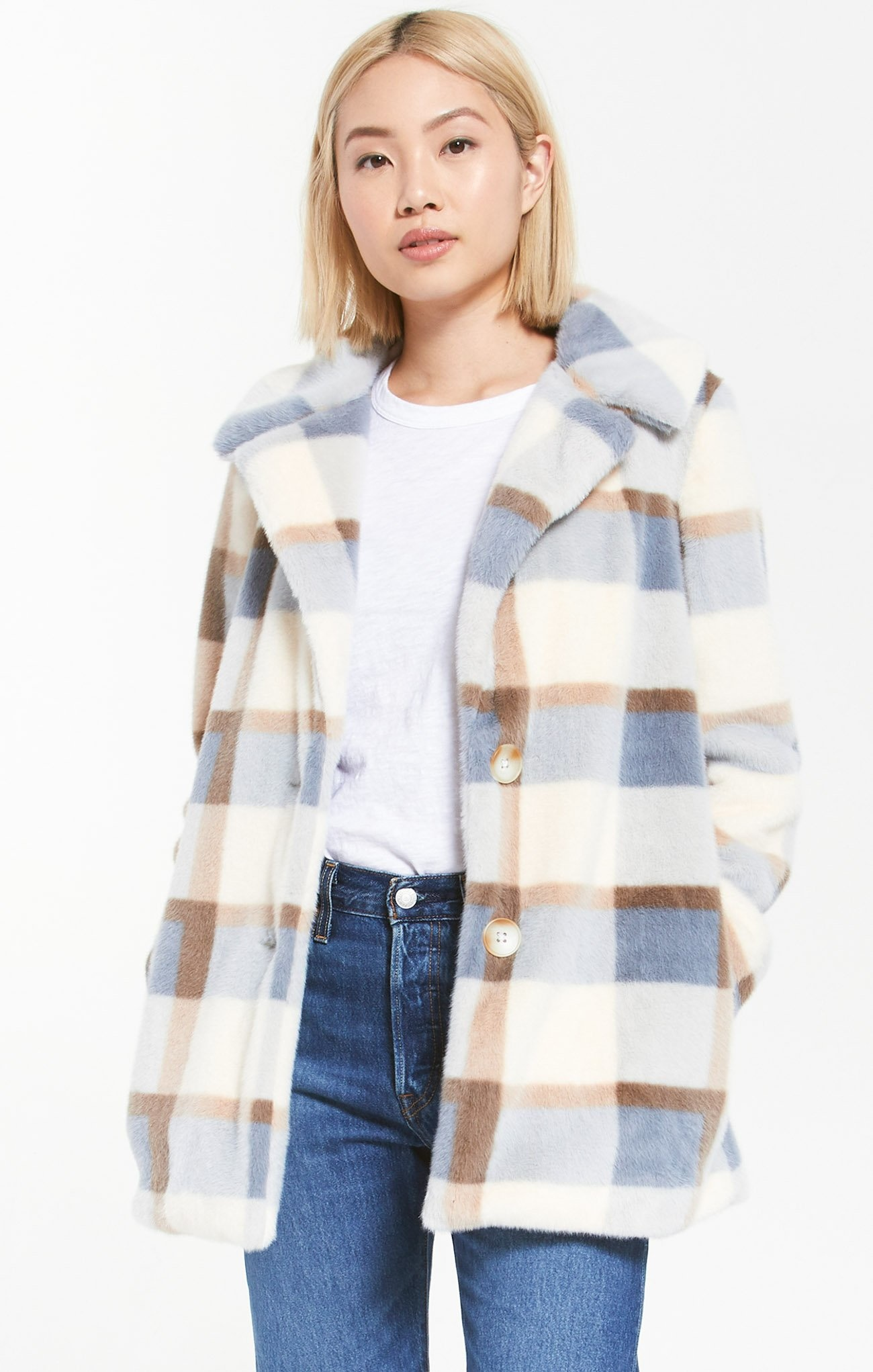 ZSUPPLY CARMEN PLAID COAT