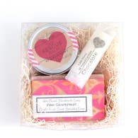 THE LITLE FLOWER SOAP CO VALENTINES SPA GIFT BOX