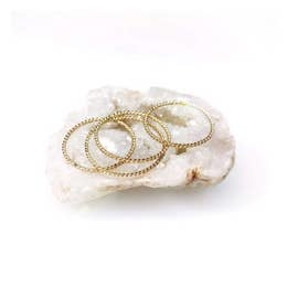 LOTUS JEWELRY STUDIO ROPE STACKING RINGS GOLD FILL