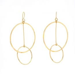 LOTUS JEWELRY STUDIO HITCH EARRINGS 14K GOLD FILL