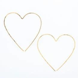 LOTUS JEWELRY STUDIO HEART HOOP EARRINGS A4K GOLD FILL