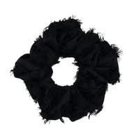 KITSCH BRUNCH SCRUNCHIE FRAYED BLACK