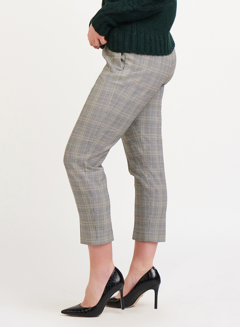 CROPPED PLAID TROUSER