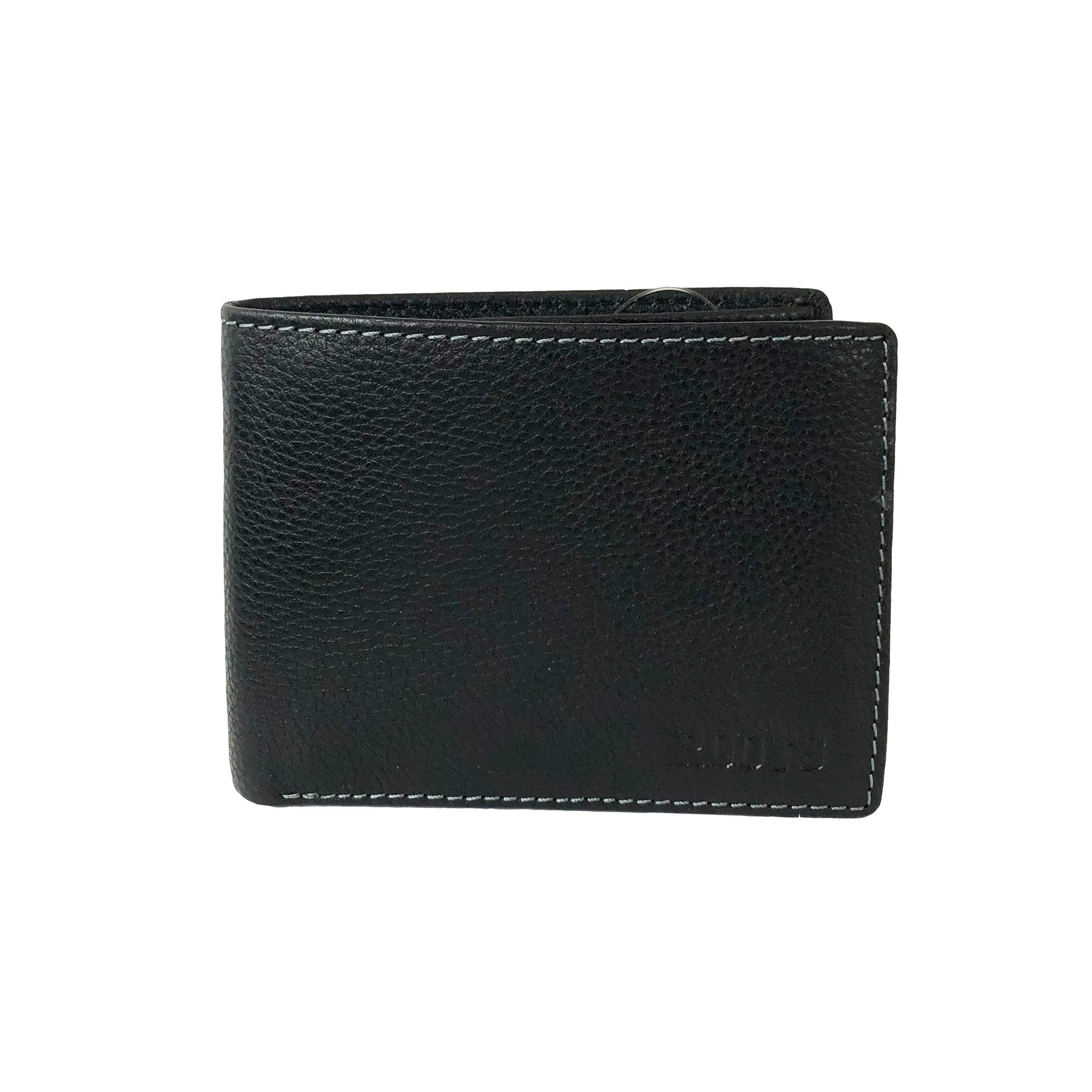 ROOTS MENS LEATHER SLIMFOLD WALLET- REMOVABLE ID