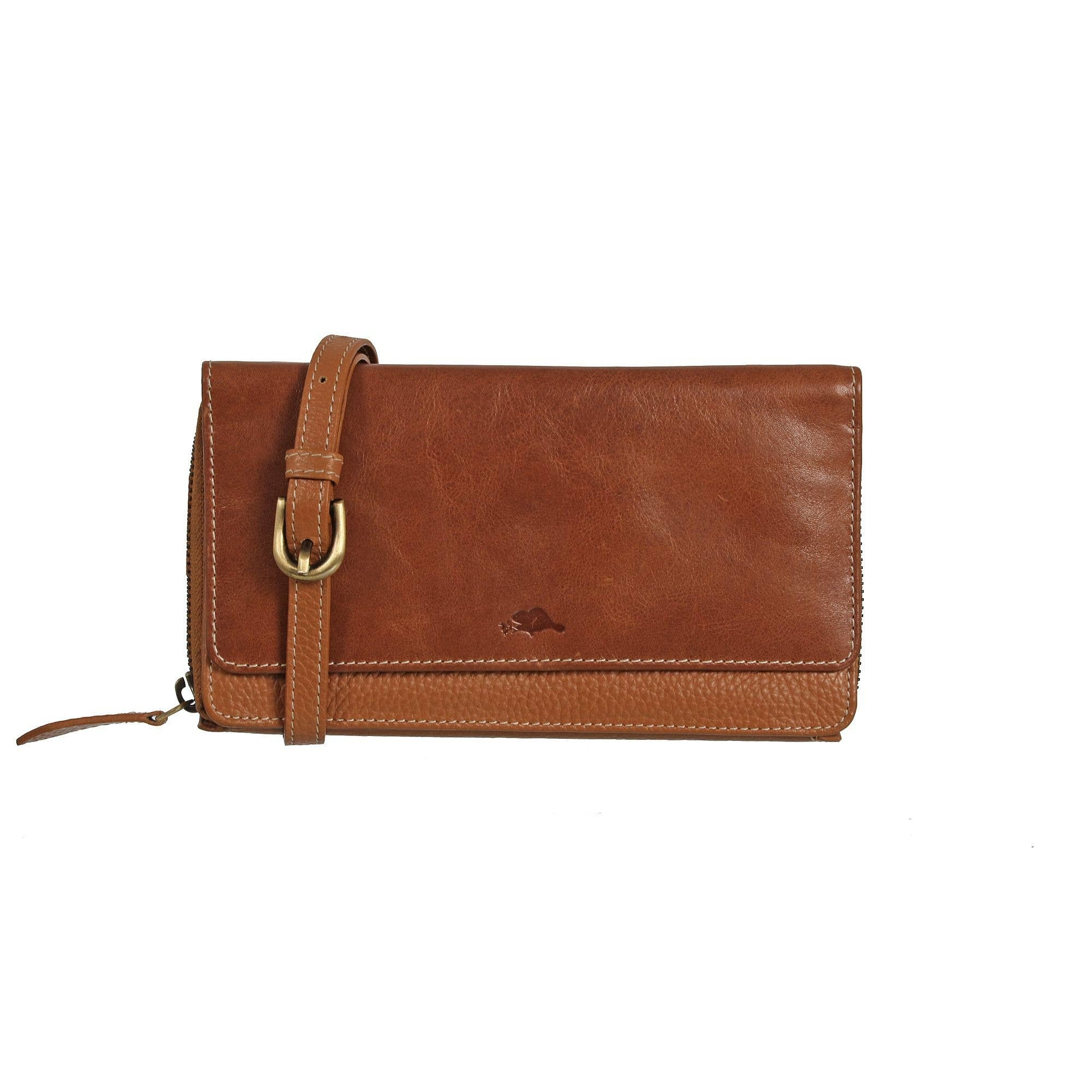 ROOTS LADIES WALLET ON A STRING CARMEL