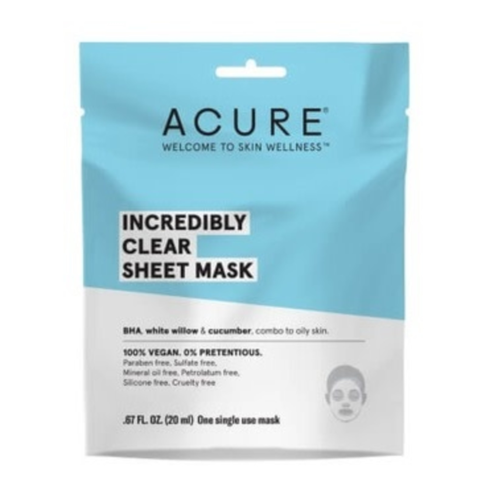Acure Acure Incredibly Clear Sheet Mask