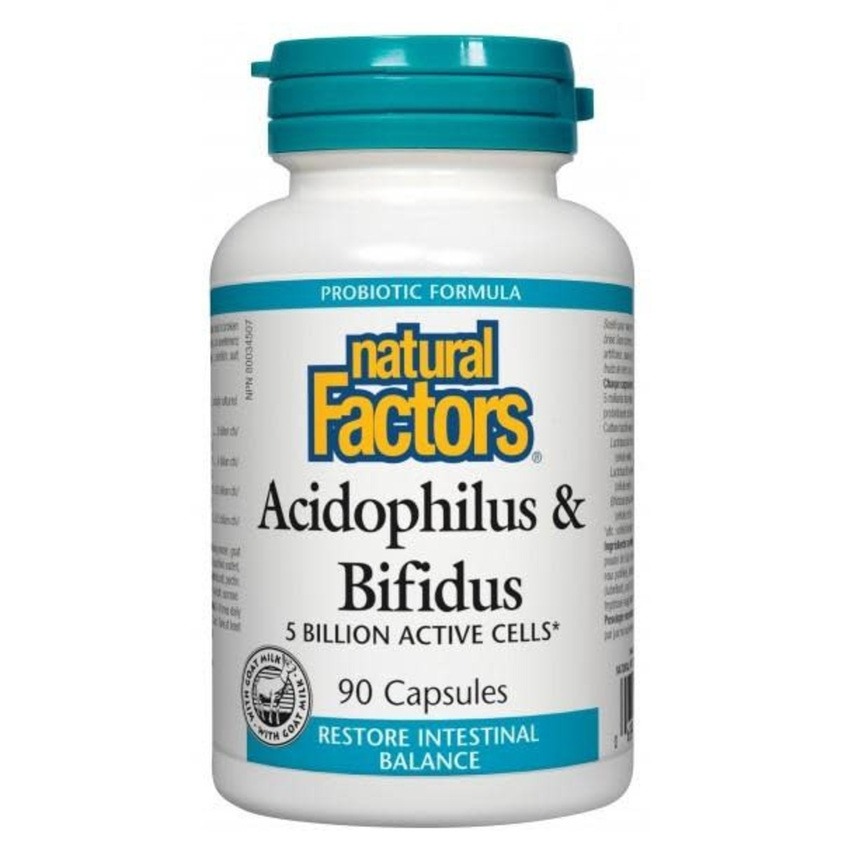 Natural Factors Natural Factors Acidophilus & Bifidus 5 Billion 90 caps