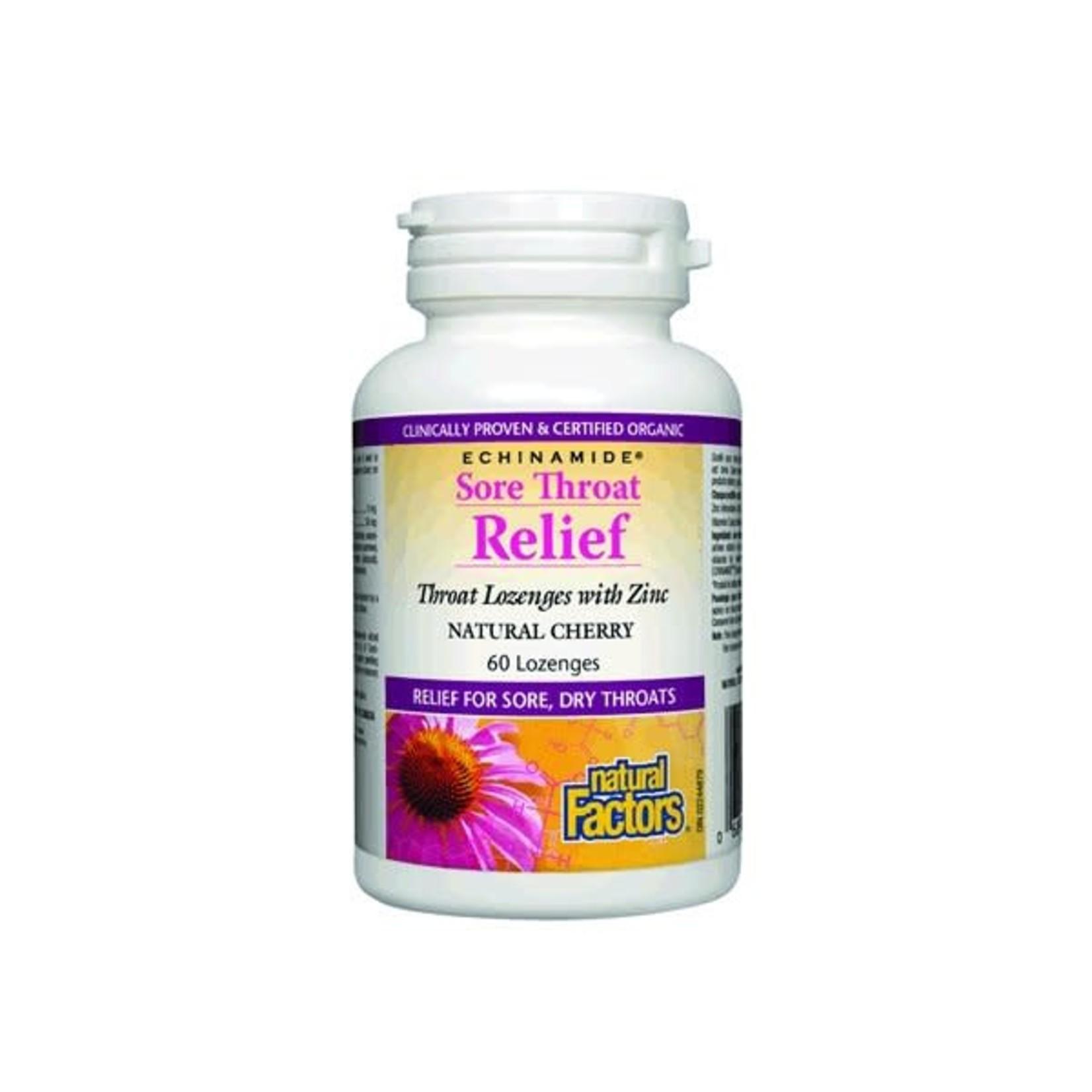 Natural Factors Natural Factors Sore Throat Relief 60 lozenges