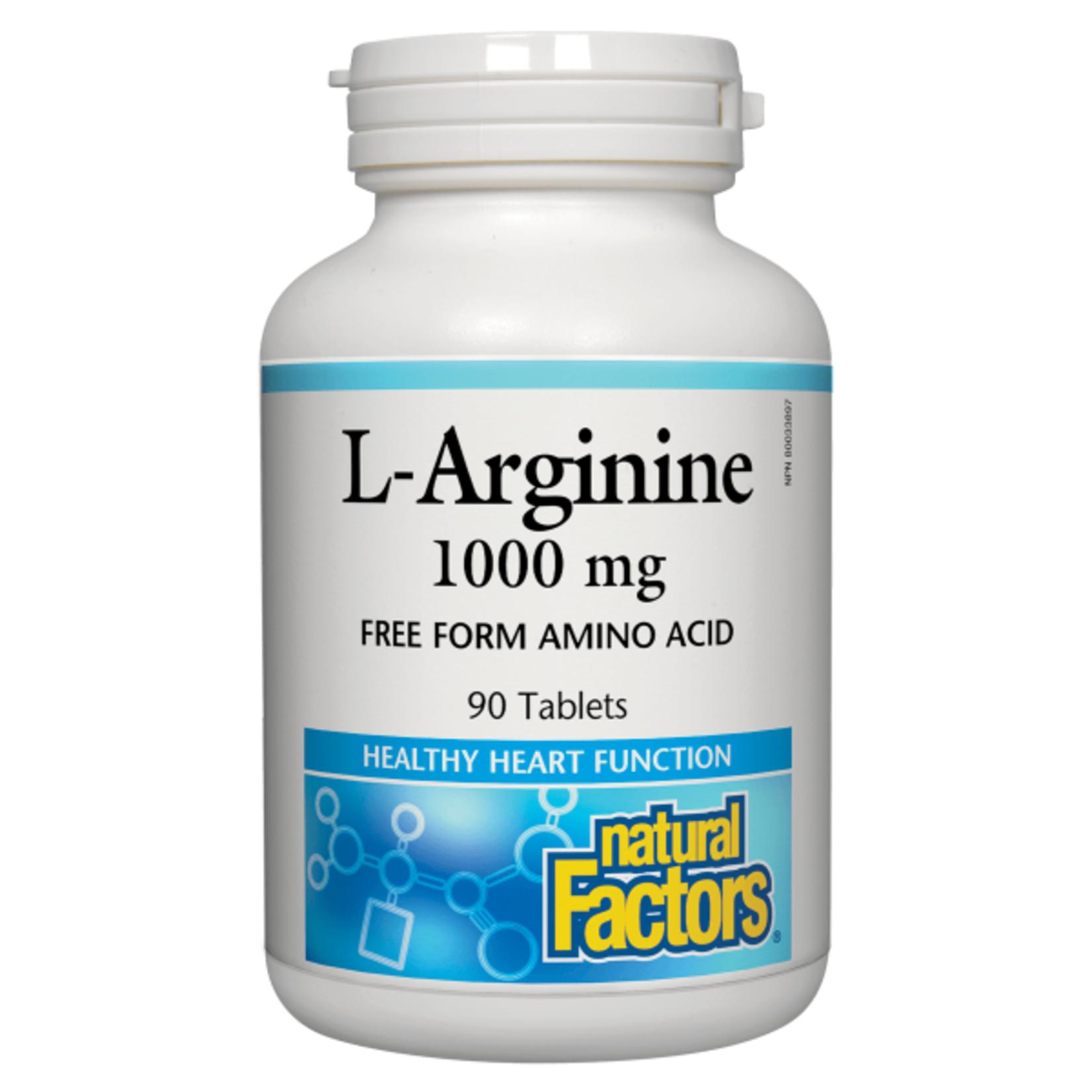 Natural Factors Natural Factors L-Arginine 1000mg 90 tabs