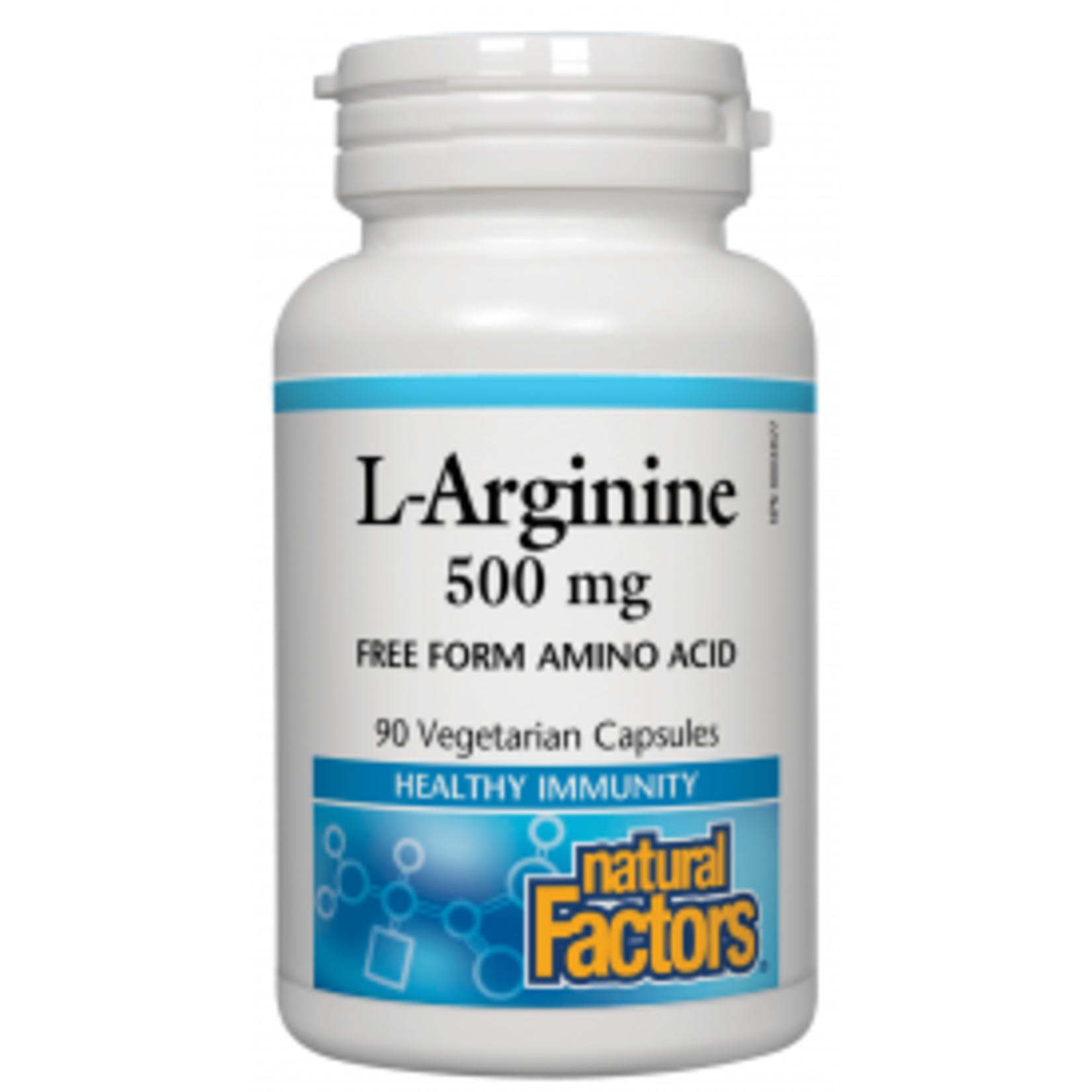 Natural Factors Natural Factors L-Arginine 500mg 90 caps