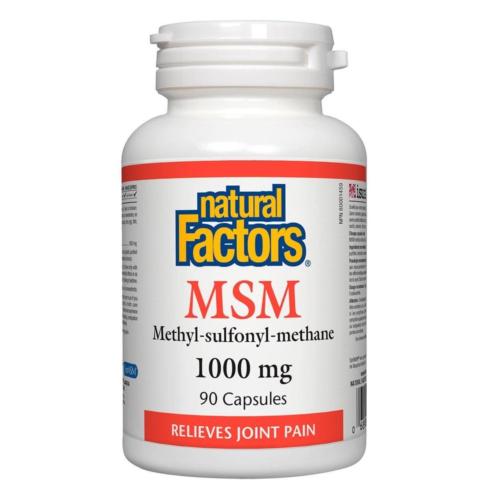 Natural Factors Natural Factors MSM 1000mg 90 caps