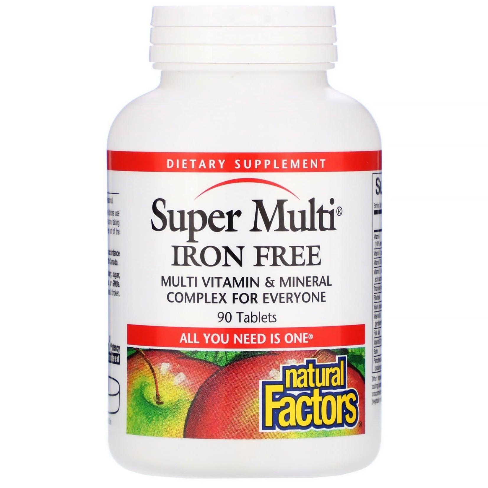 Natural Factors Natural Factors Super Multi Iron Free 90 tabs