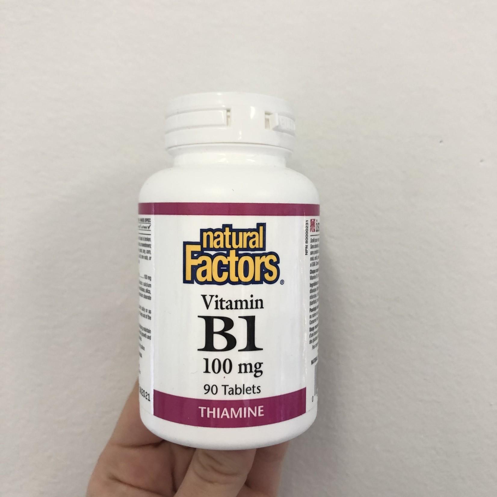 Natural Factors Natural Factors Vitamin B1 100mg 90 tabs