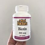 Natural Factors Natural Factors Biotin 300mcg 90 tabs