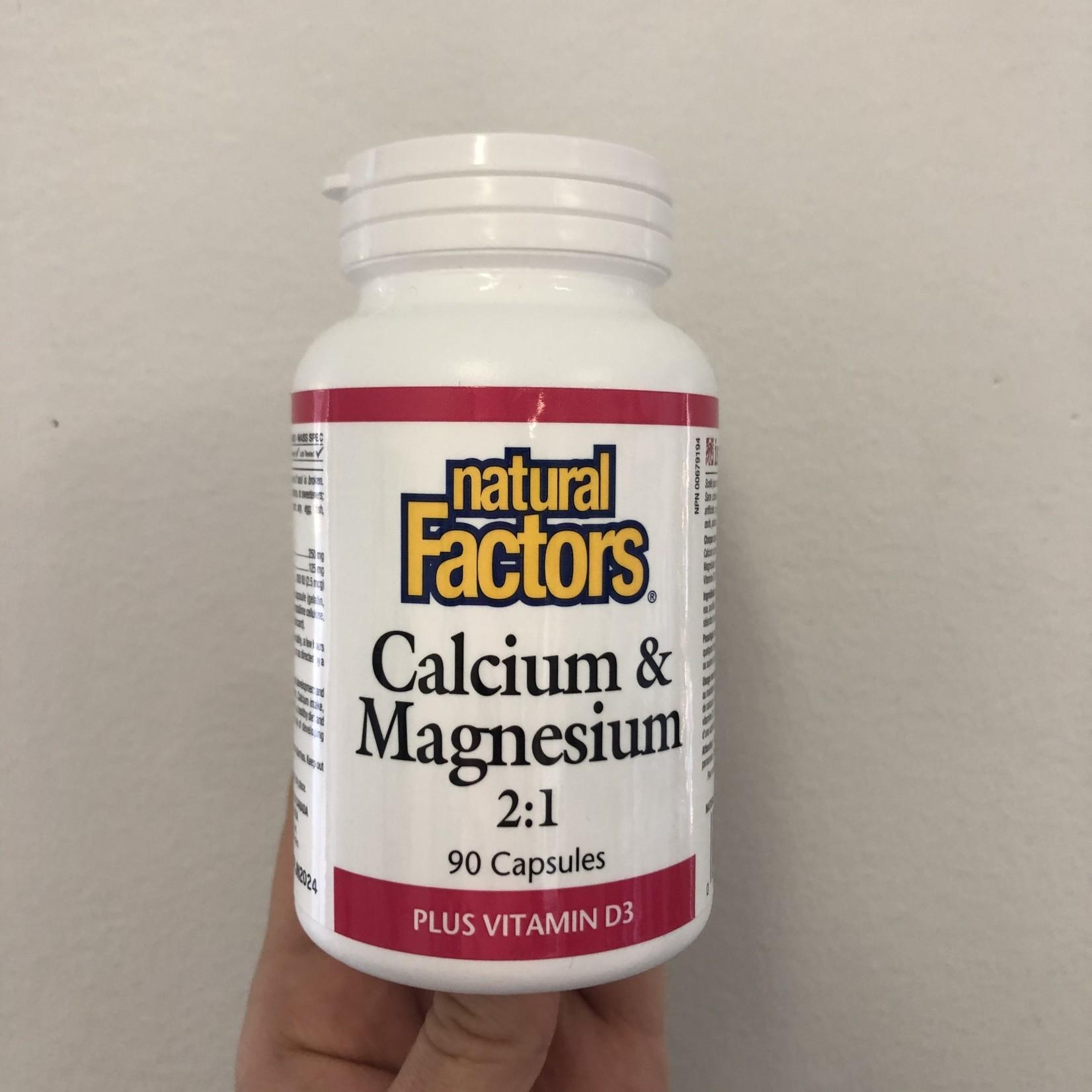 Natural Factors Natural Factors Calcium & Magnesium 2:1 Plus Vitamin D3 90 caps